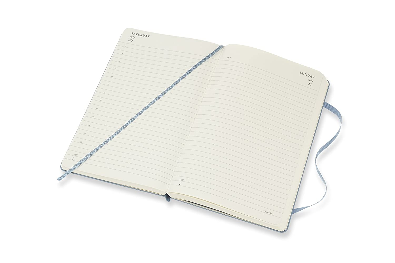 A6 Hard Cover Pocket Moleskine Tageskalender 9,5 x 2,2 x 14,6 cm 2019 Schwarz Taschenkalender 12 Monate