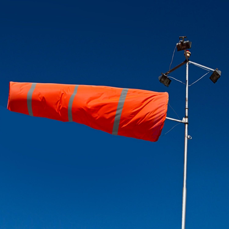 30 Qishi Airport Windsocks Rip-Stop Outdoor Rainbow Wind Measurement Sock Bag with Reflective Belt 30 40 60