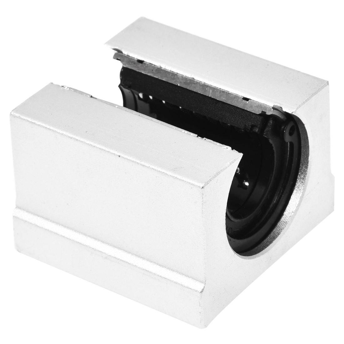SODIAL 4x Bloc coulissant en Aluminium lineaire SBR20UU,20mm Bloc coulissant de motion router en C Argent