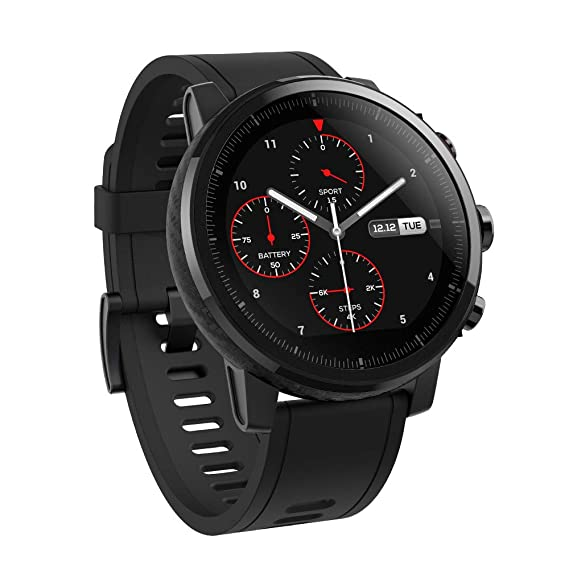 Amazfit Stratos Multisport Smartwatch with VO2max, All-day Heart Rate and Activity Tracking, GPS, Water Resistance, US Service and Warranty (A1619, ...