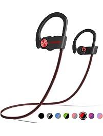 LETSCOM Bluetooth Headphones IPX7 Waterproof, Wireless Sport Earphones, HiFi Bass Stereo Sweatproof Earbuds w/Mic, Noise...