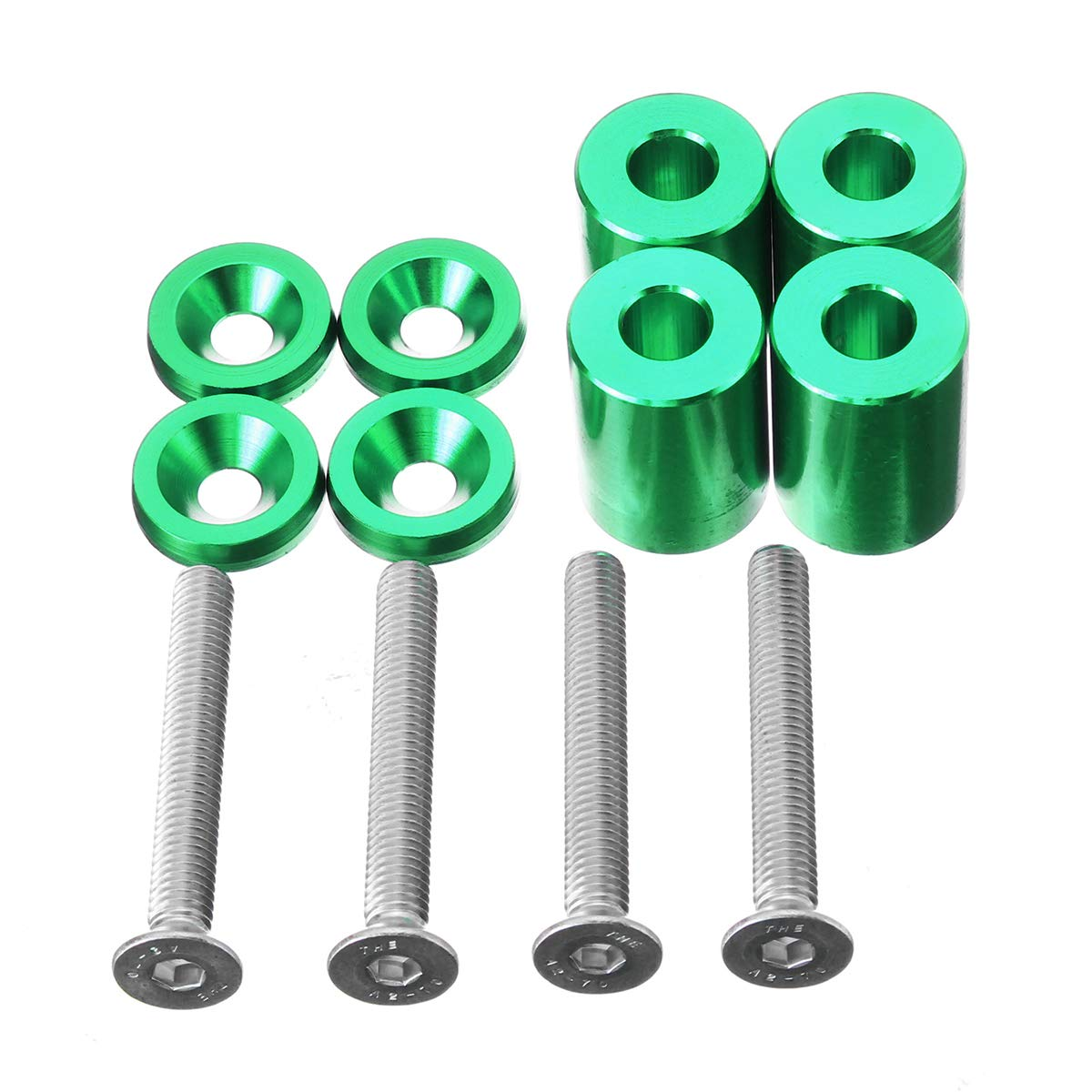 Verde Viviance 6Mm Racing 1Inch Billet Hood Vent Distanziale Kit Riser per Auto Motore Turbo Motor Engine