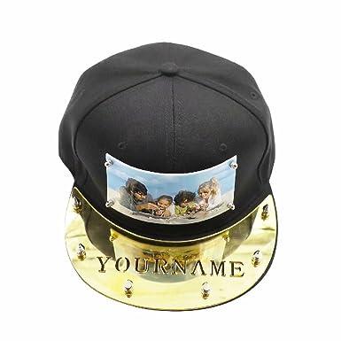 Nombre/Logotipo Estampados con Sombrero Personalizado en la Placa de acrílico Gorras de béisbol Ajustables de Snapback: Amazon.es: Ropa y accesorios