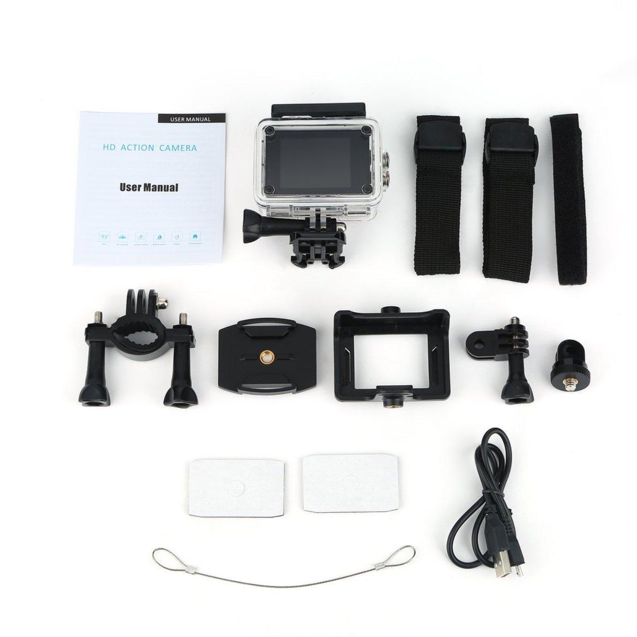 Dailyinshop SJ5000 acción de la cámara HD 1080P Impermeable 30m Pantalla de 2,0 Pulgadas Deportes CAM