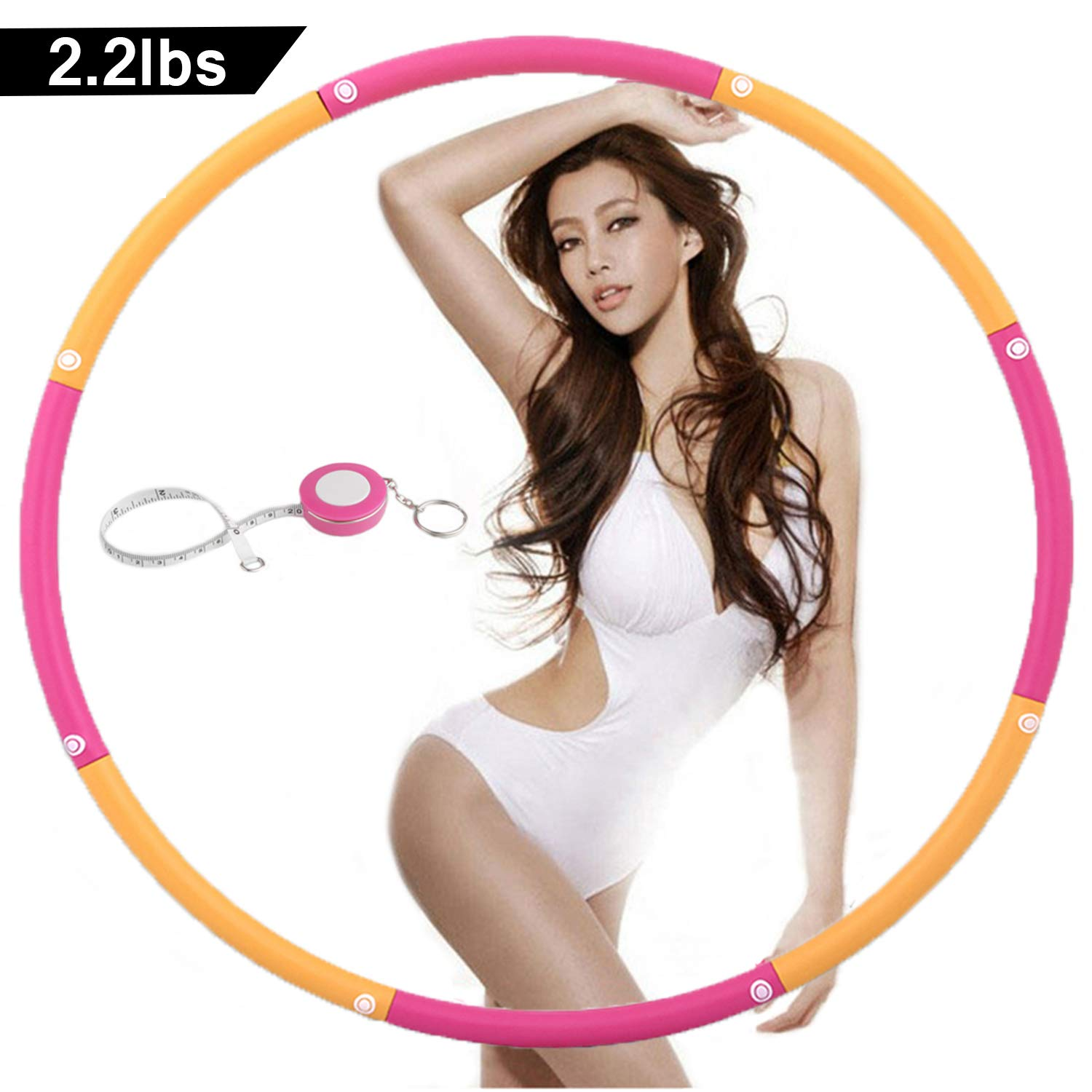 NEOWEEK | Upgraded | Weighted Hula Hoops for Exercise - 2.2lb, Professional Adult Hula Hoop for Weight Loss