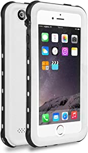 iPhone 5S / SE (2016) Waterproof Case, Dust Proof Snow Proof Shock Proof Case with Touched Transparent Screen Protector, Heavy Duty Protective Carrying Cover Case for iPhone 5 5s SE - White