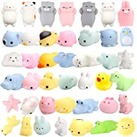 WATINC 12 Pcs Cute Animal Squishy, Kawaii Mini Soft Squeeze Toy,Fidget Hand Toy for Kids Gift,Stress Relief,Decoration,12 Pack