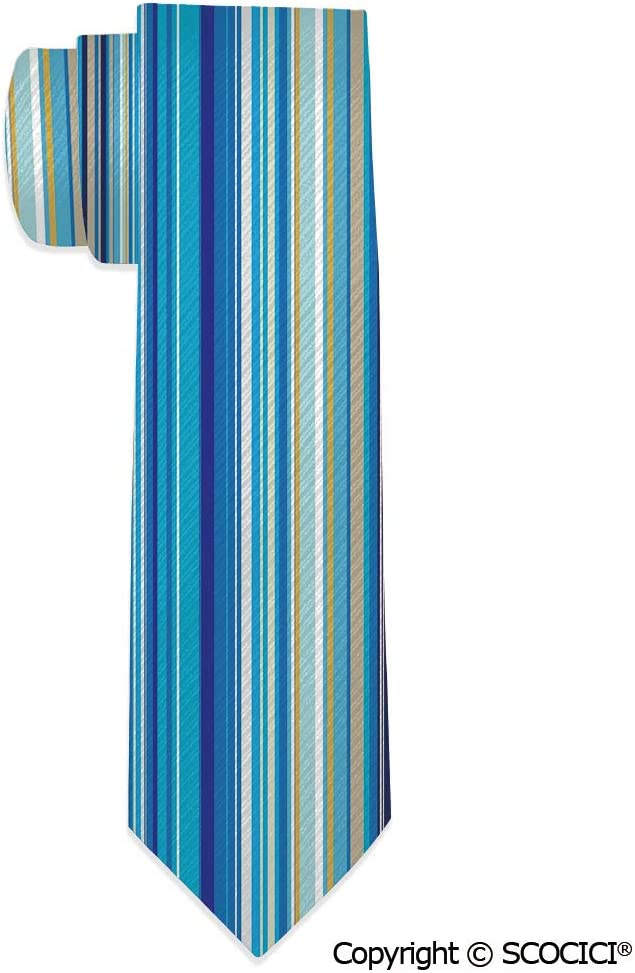Mens Skinny Tie Vertical Stripes Repeating Retro Revival Great for Weddings