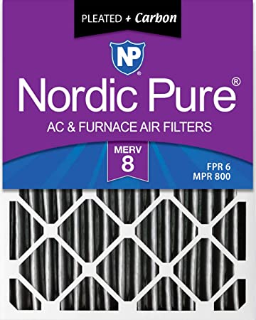 6 Pack Nordic Pure 12x24x4 MERV 7 Pleated AC Furnace Air Filters