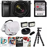Sony a6300 Mirrorless Camera (Black) with 18-135mm Lens (Black) and 64GB Bundle