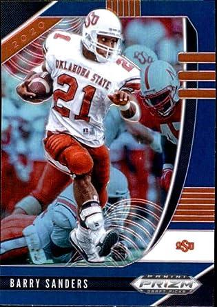 2020 Panini Prizm Draft Prizms Blue #11 Barry Sanders Oklahoma State Cowboys Football Trading Card