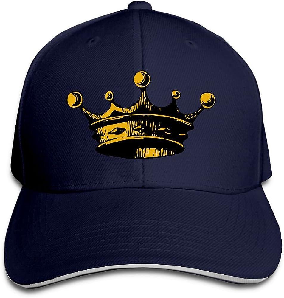 Teesofun Unisex Artistic Cartoon Crown Lovers Sandwich Peaked Cap Adjustable Cotton Baseball Caps