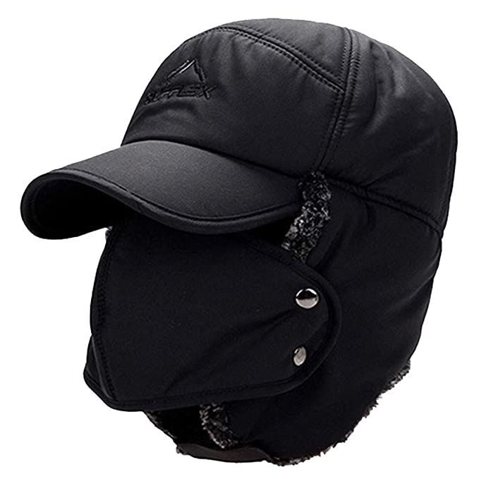 Trooper Trapper Hat Men s Winter Windproof Warm Mask Earflaps Outdoor  Sports Walking Skiing Hunting Aviator Hat f94b6fef05c