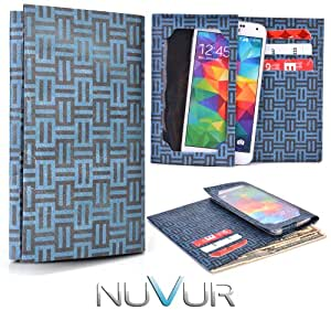 Blue Wallet Cover Phone Case Very Slim |Ty Vek| May Fit Motorola XT928 + NuVur &153; Keychain |ESMLTVG1|