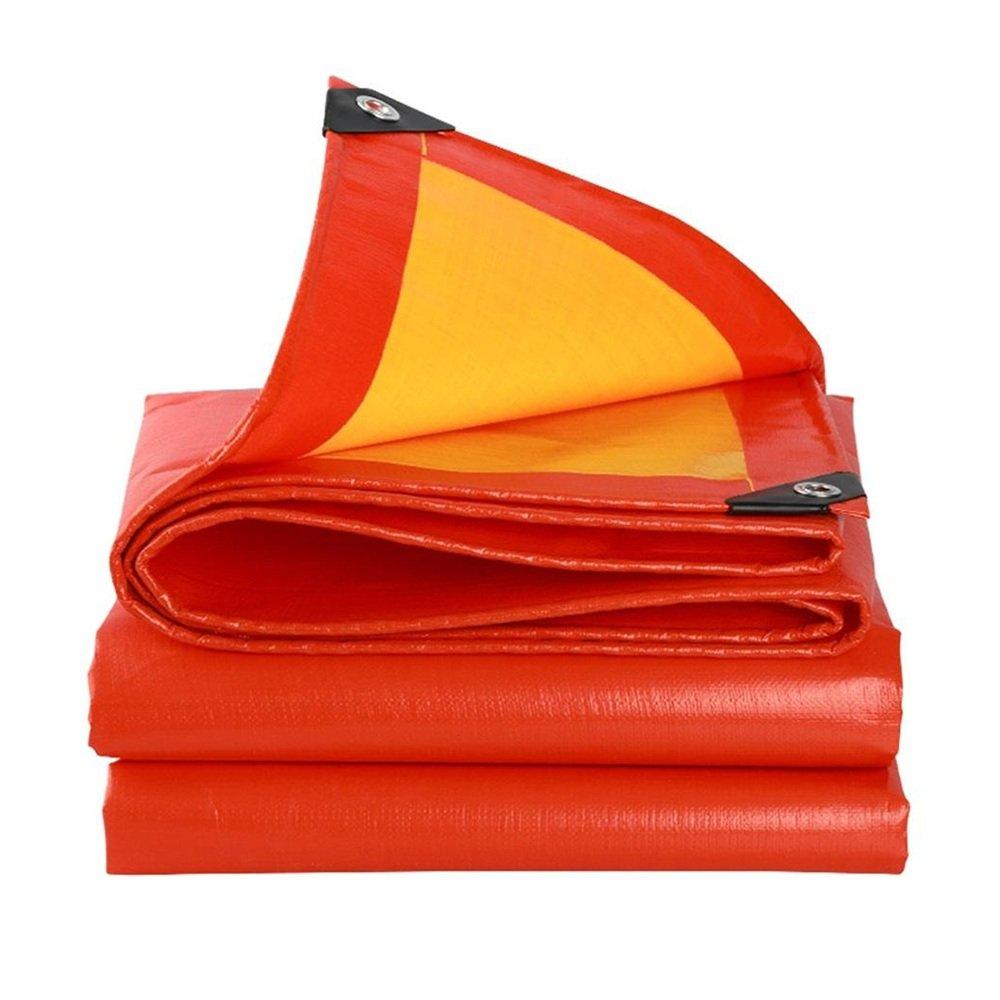 テントの防水シート 厚い雨の布防水の日焼け止めのターポリン超軽量のワゴンのターポリンサンシェードの天幕の布0.38ミリメートル-210グラム/m2 それは広く使用されています (サイズ さいず : 4 x 5m) B07D21GWZ7 4x 5m  4x 5m