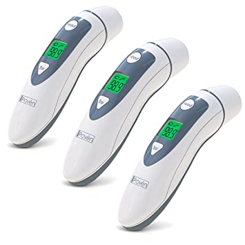 Medical Ear Thermometer with Forehead Function - iProven DMT-489 - Upgraded Infrared Lens Technology