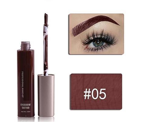 Komener Ceja de Gel de Larga Duración de Maquillaje Impermeable (Color : 5#)