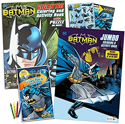 - Amazon.com: DC Comics BATMAN Coloring & Activity Book Set With Stickers (2 Coloring  Books, Over 300 Pages Total): Toys & Games
