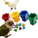 QBLEEV Conure Toys, Color Sorting Bin Bird Toys, Teaching Tool Box Parrot Toys, Trick Prop Training Education…