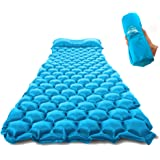 ZOOOBELIVES Ultralight Sleeping Pad with Built-in Pillow, Inflatable Camping Mattress for Backpacking, Traveling and Hiking,