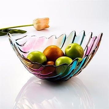 Lostryy Farbiges Glas Obstteller Kreative Moderne Europäische