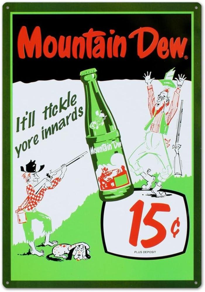 Amazon.com: Mountain Dew Soda - Cartel de hojalata (12.0 x ...