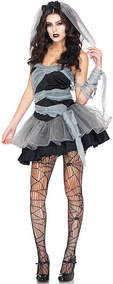 Vampire Carnaval Zombies Adulto Mujeres Disfraz Fantasma Novia ...