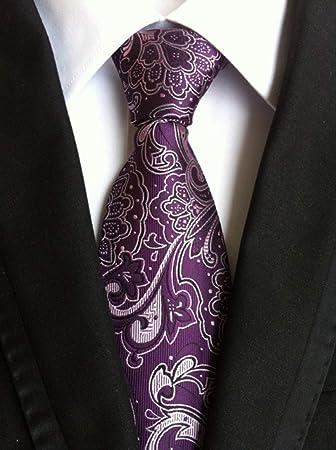 Xjwq - Corbata de Paisley con Rayas para Hombre y Mujer: Amazon.es ...