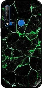 For Huawei Nova 5i Case Green Waves Pattern