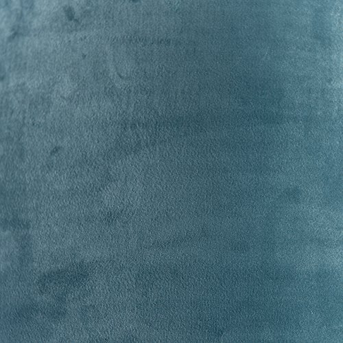 Rund gerade Schirm Pendelleuchte,Schirm Stehleuchte QAZQA Baumwolle Lampenschirm velours 50//50//25 blau Gold//Messing
