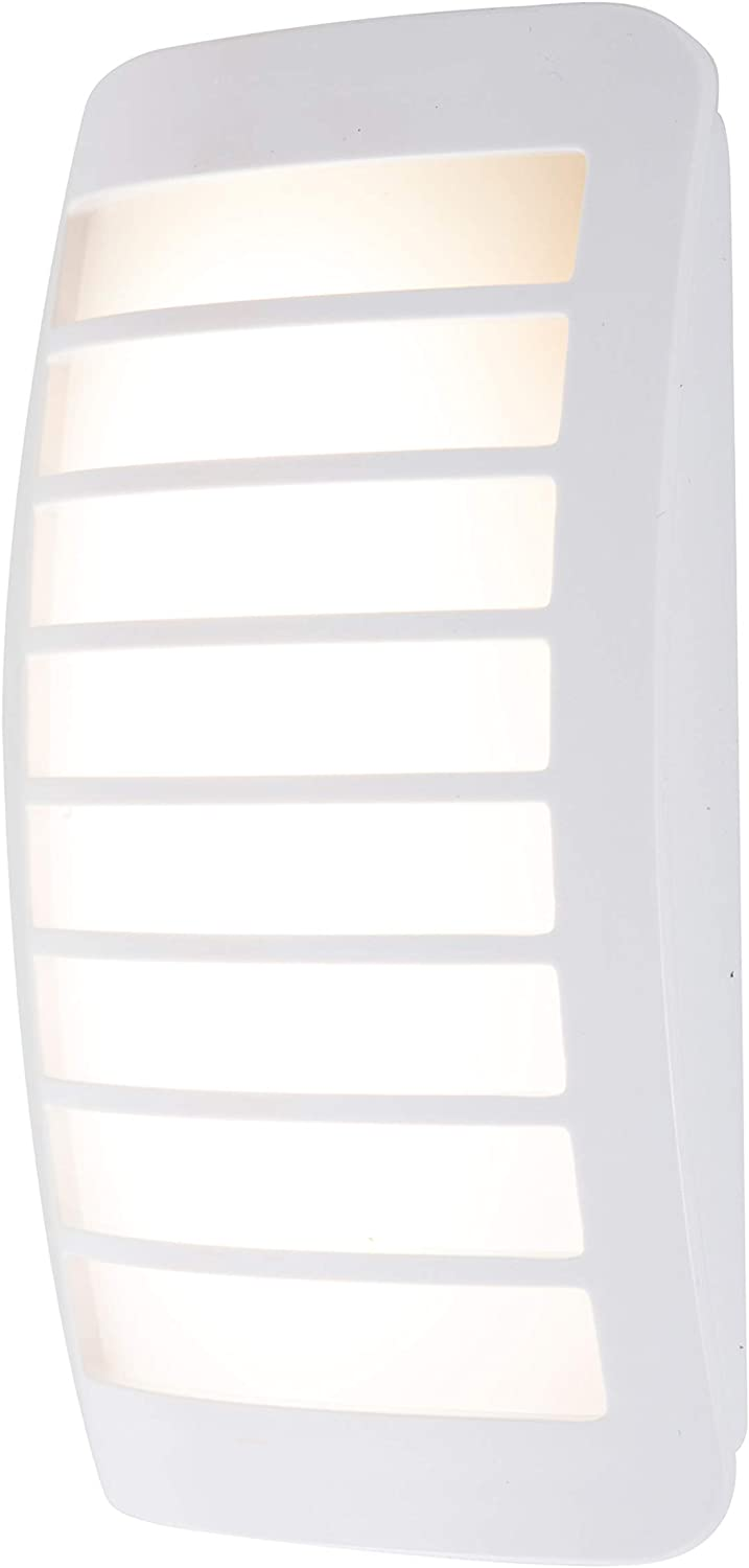 GE CoverLite Automatic LED Night Light, White Finish, Plug-In, Soft White, Light Sensing, Dusk to Dawn Sensor, Energy-Efficient, Ideal for Hallways, Kitchens, Bathrooms, Bedrooms, Offices, 37300