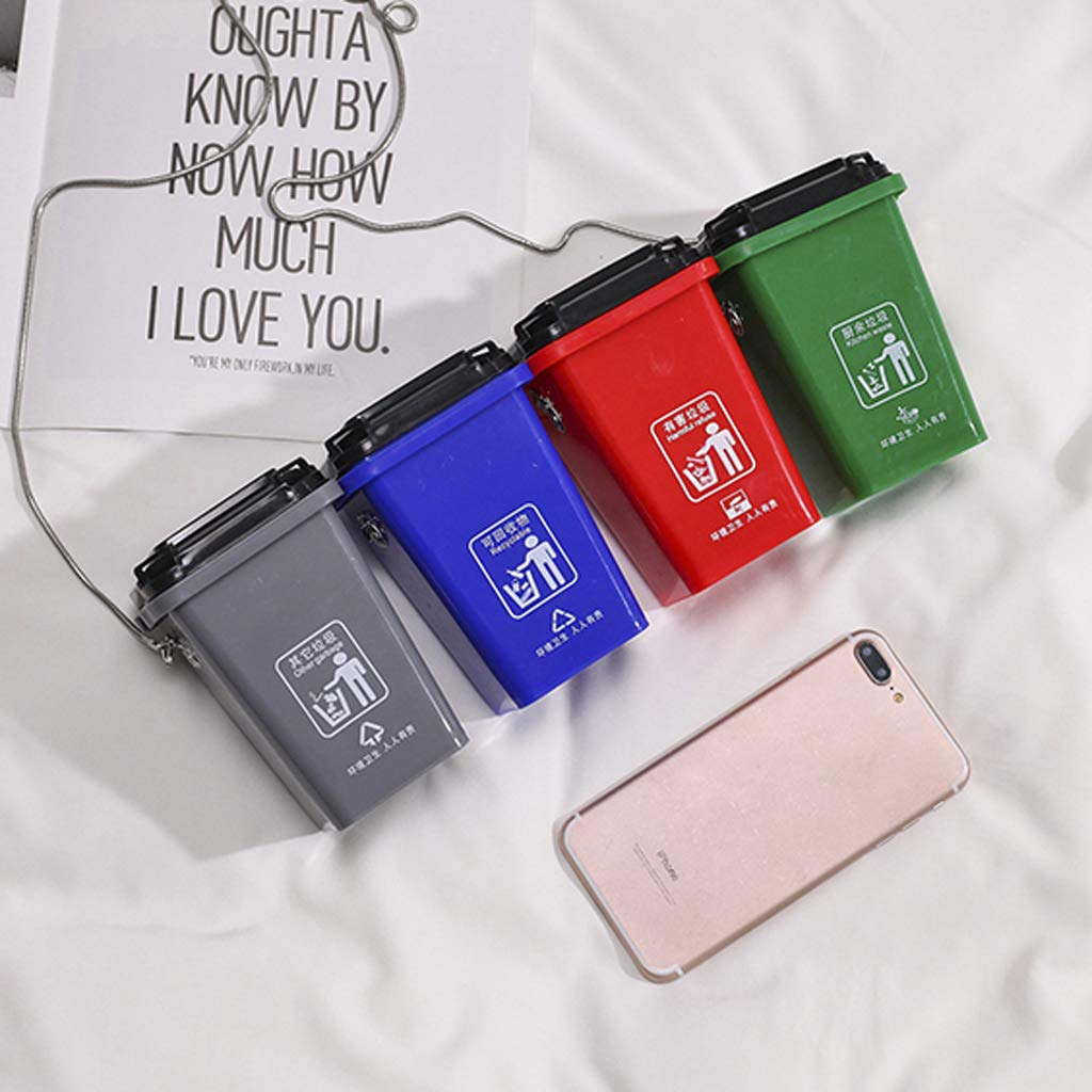 Including Including 4 PCS Portable Rubbish Bin Plastic Garbages Bag Womens Cute Environmental Protection Messenger Bag Sorting Bag Trash Can Bag for Travel or Outdoor DBHAWK