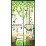 Bulary Love Bird Magnetic Insect Door Screen Fly Bug Insect Curtain Door Mesh Magnetic 100 * 210 cm / 3.28 * 6.89 ft