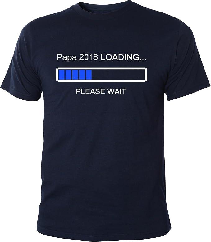 Mister Merchandise Herren Men T-Shirt Papa 2018 Loading Tee Shirt Bedruckt:  Amazon.de: Bekleidung