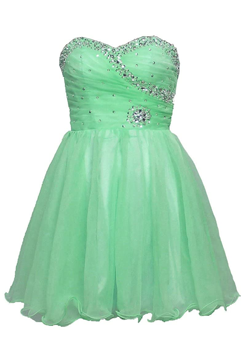 RohmBridal Womens Beaded Short Formal Prom Dress Homecoming Gown