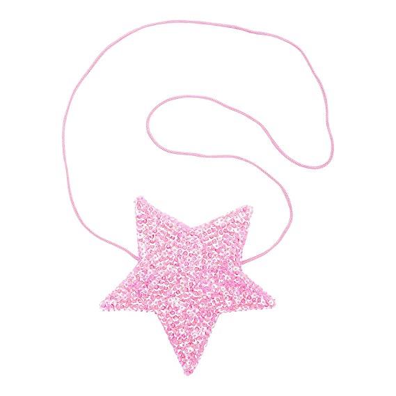 Amazon.com: shu-shi las niñas lentejuelas Star Shaped Purse ...