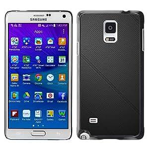 "For Samsung Galaxy Note 4 , S-type Cuero negro"" - Arte & diseño plástico duro Fundas Cover Cubre Hard Case Cover"