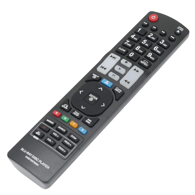 ECONTROLLY リモコン AKB72975301 LG Blu-Ray DVD BD370 BD550 BD561 BD561N BD570 BD572 BD572N BD580 BD590 BD592 BD592N BX580 BX585用   B07PB9HMT7