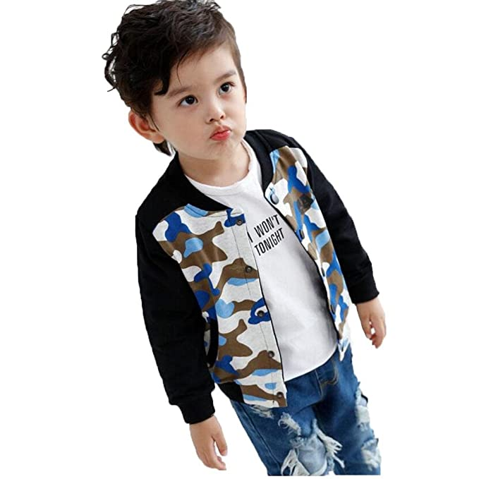 Niño Ropa Abrigo Chaqueta Chico Vestidos Camuflaje Outwear Ocio Otoño Desgaste Exterior Manga Larga Moda Personalidad Rompevientos Bebé ZYS, B, ...