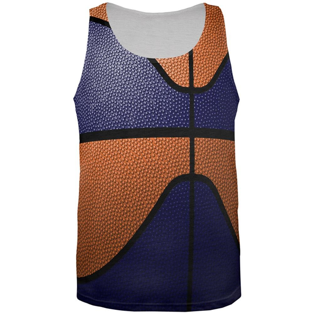 Old Glory Championship Basketball Navy /& Orange All Over Mens Tank Top