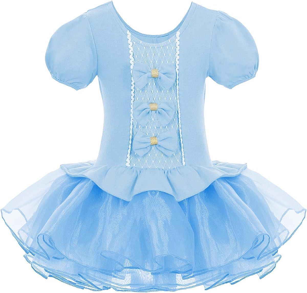Details about  /Girls Ballet Tutu Dress Contemporary Puff Sleeves Velvet Dance Costume For Kids