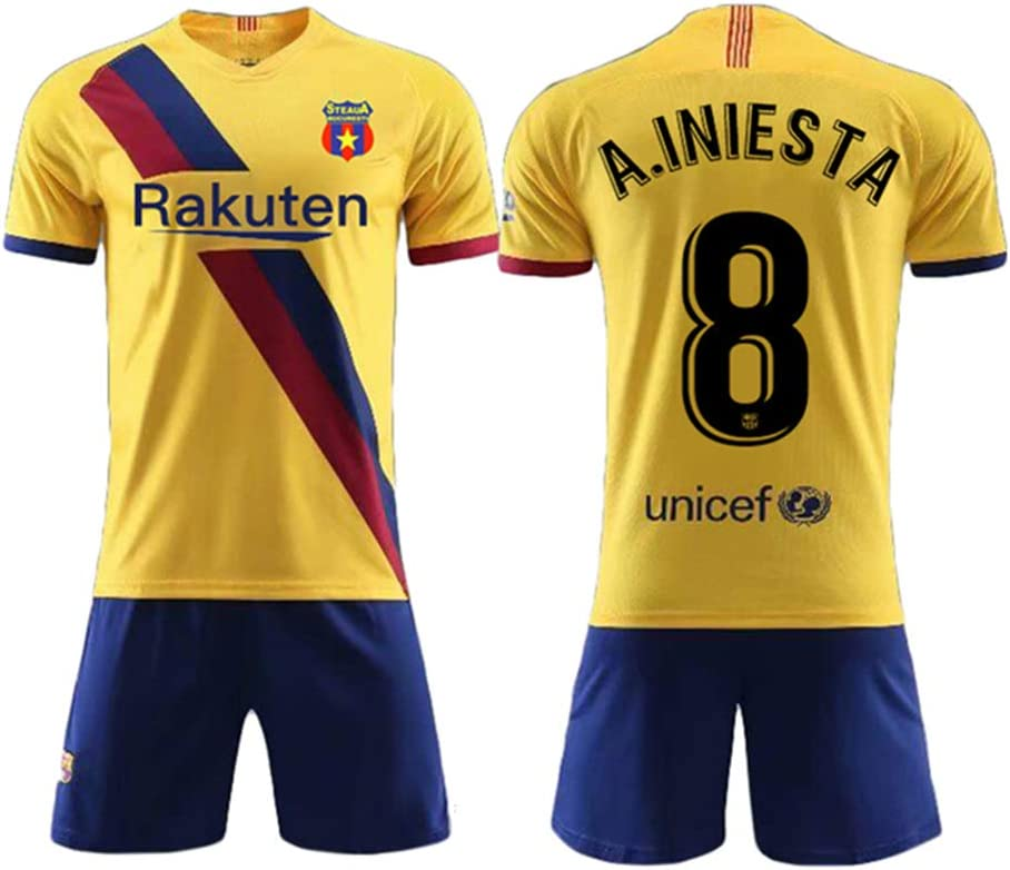 Custom Soccer Jerseys – Make Your Own Jersey Camisetas Personalized Team Uniformes, 12-13 Years/Height:140-150 cm, Barcelona-Away: Amazon.es: Deportes y aire libre