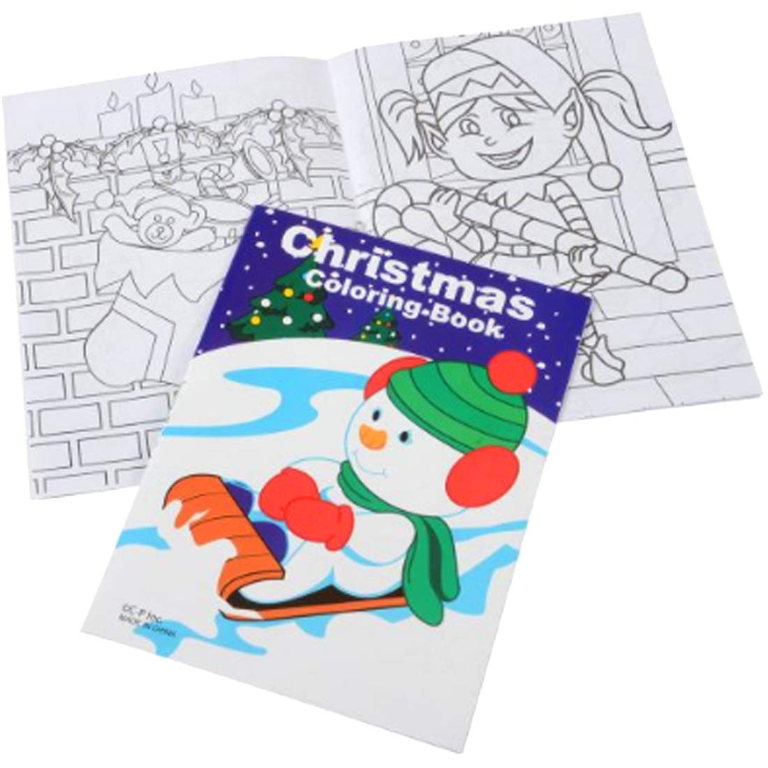 12 Sets Bulk Mini Christmas Coloring Books & Crayons ...