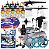 PointZero Pro Airbrush Cake Decorating Set - 12 Chefmaster Colors