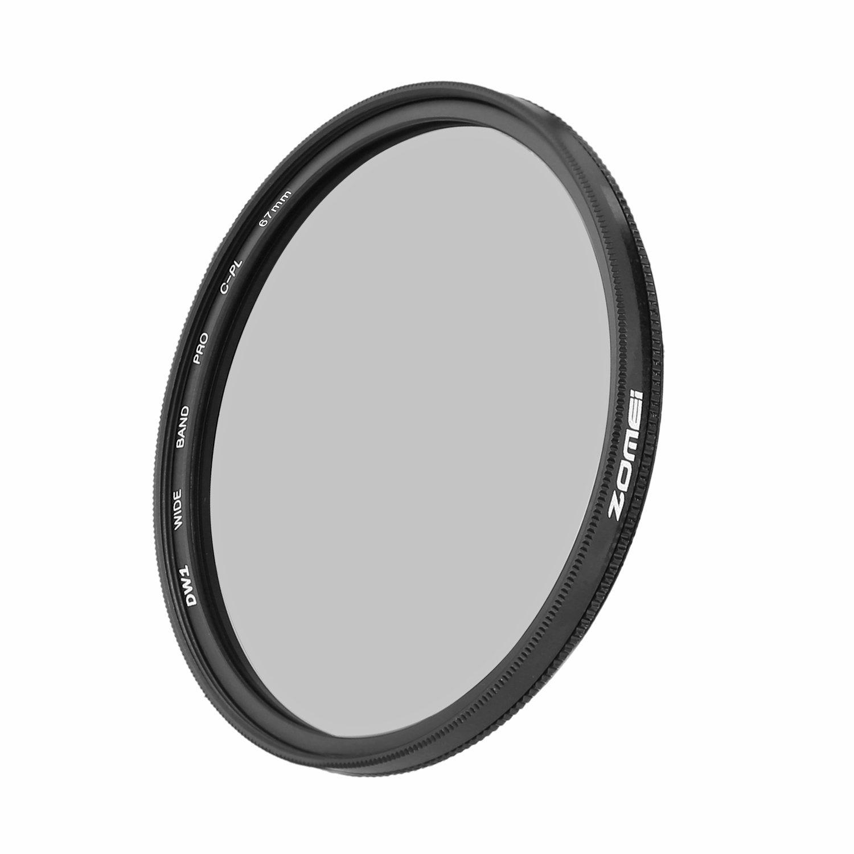 ZoMei Ultra Slim AGC Optical Glass PRO CPL Circular Polarizing Polarizer Lens Filter - 67mm by ZoMei