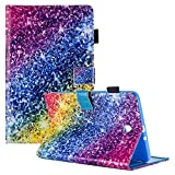 Galaxy Tab E 8.0'' Case, Samsung SM-T377a Case, Dteck Functional Flip Wallet Style Case with [Silicone Back Cover] for Galaxy Tab E 32GB SM-T378/Tab E 8.0 SM-T375/SM-T377,Colorful Diamond