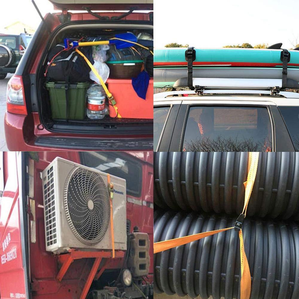 Teabelle 1 M Hebilla de Coche Correa de Amarre Correas de Carga para Bolsa de Equipaje de Motocicleta Bicicleta Cuerda de Remolque Fuerte Trinquete Verde