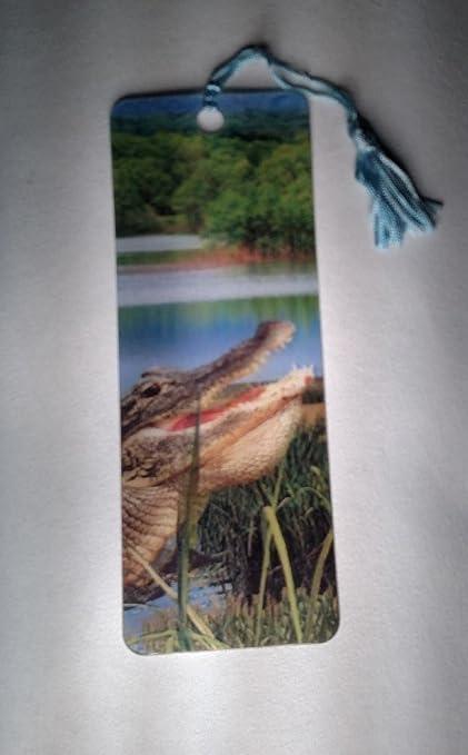Advanced 3 D Lenticular Bookmark With Tassel (Gator)