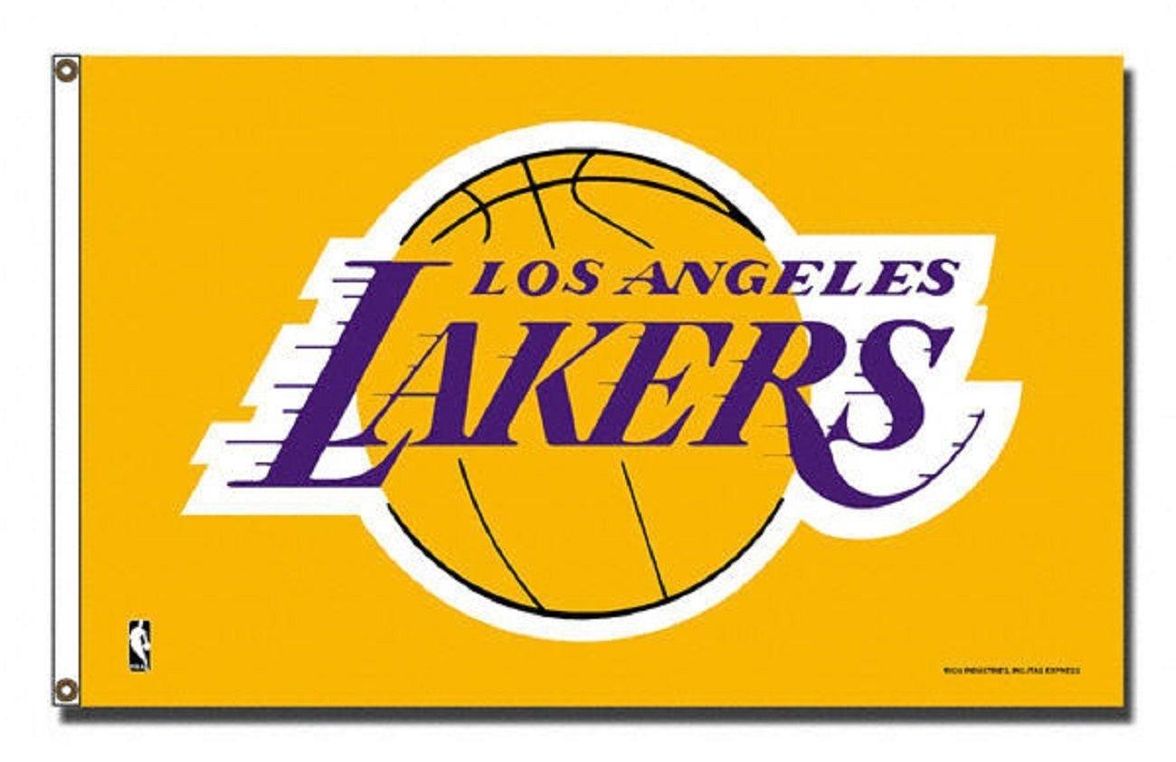 e1b58015607 Los Angeles LA Lakers Flag 3  x 5  NBA Banner - Made in USA  Amazon.co.uk   Garden   Outdoors