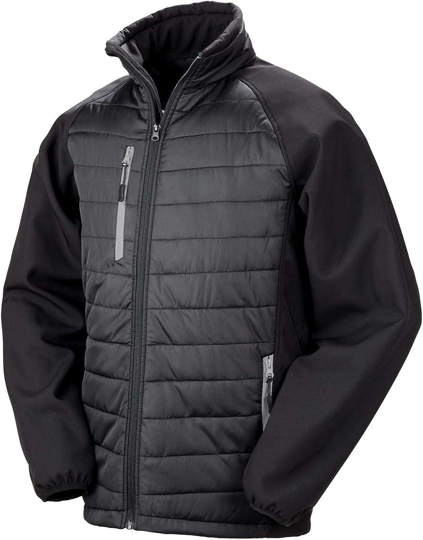Result R237X Black Compass Padded Softshell Jacket Blank Plain